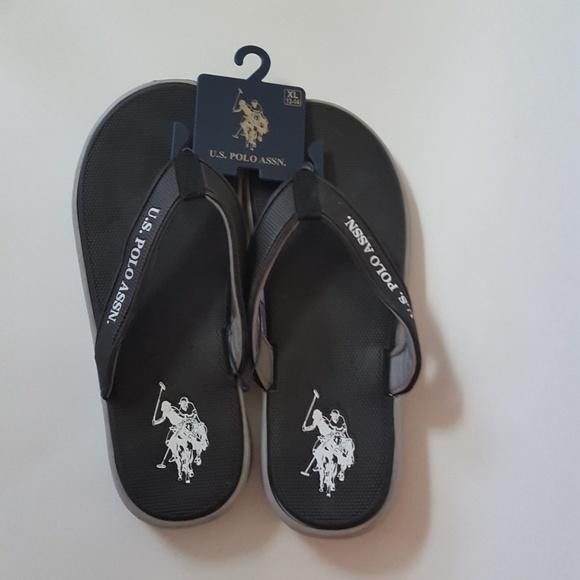 277fed791b3d U.S. Polo Assn. Men s Grey P Sandals flip flop